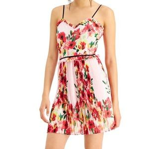 New Anthro Foxiedox floral printed pleated dress